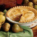 Fall Pear Pie
