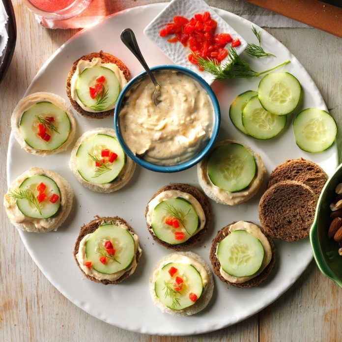 Appetizer Course: Cucumber Canapes