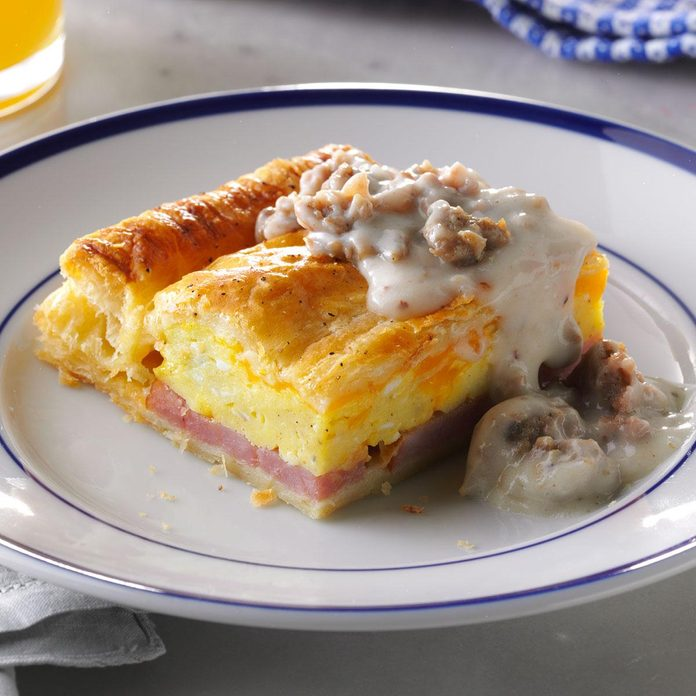 Brunch Puff with Sausage Gravy