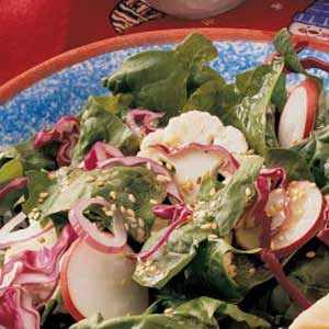 Dijon Spinach Salad