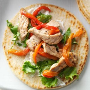 Peppered Pork Pitas