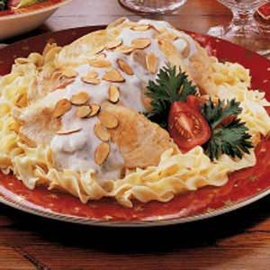 Chicken and Noodles with Mushroom Sauce