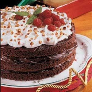 Fudgy Raspberry Torte