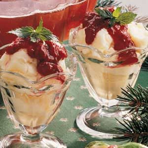 Raspberry Sundaes