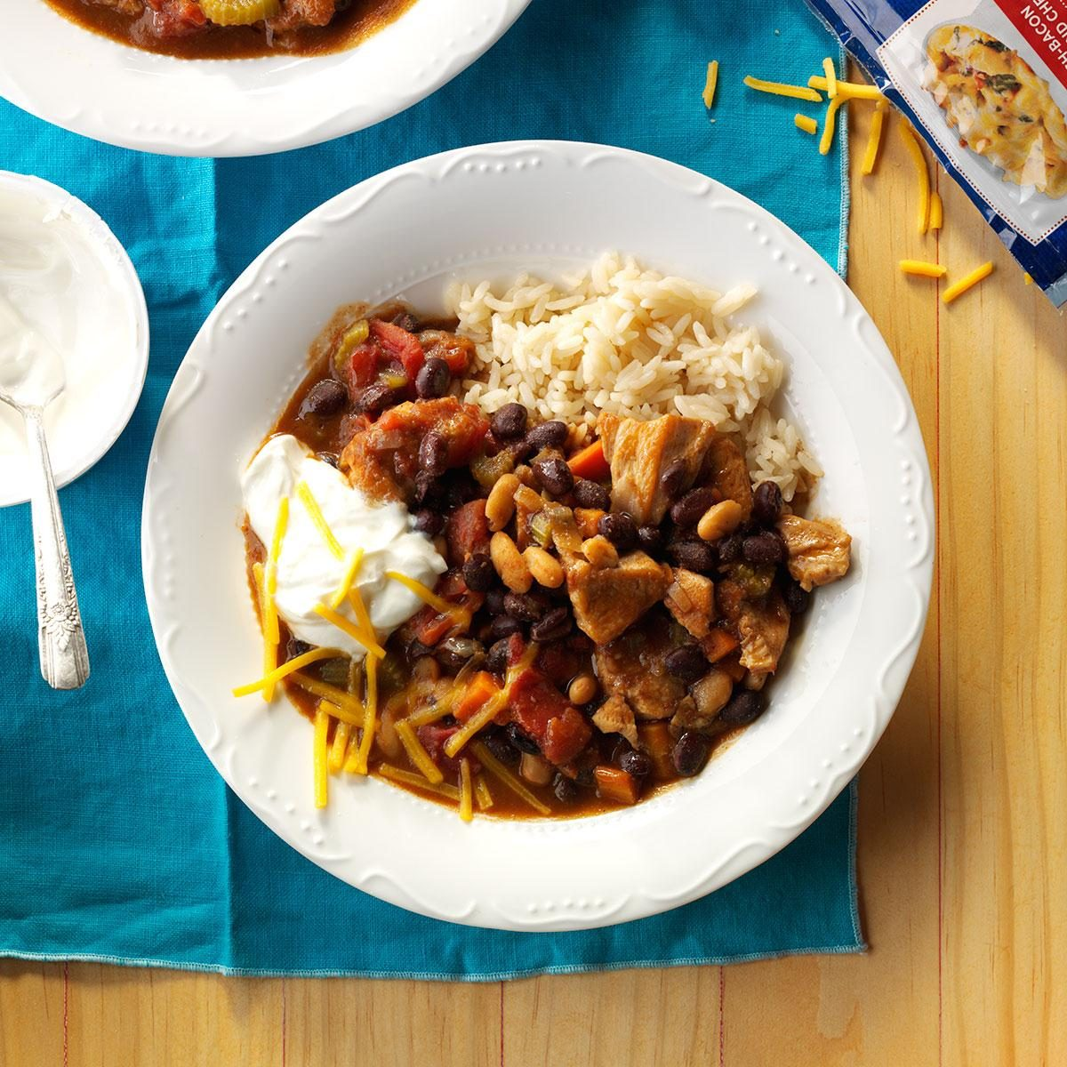 Black White Bean Chili Recipe How To Make It Taste Of Home