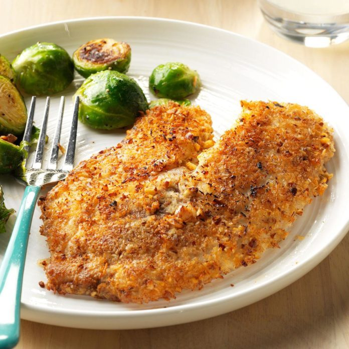 Pecan-Coconut Crusted Tilapia