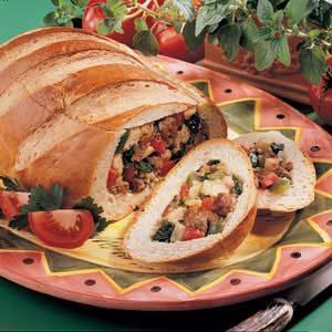 Stuffed Bread Boat