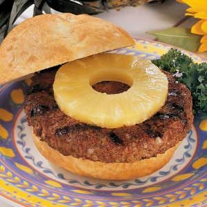 Teriyaki Burgers with Pineapple