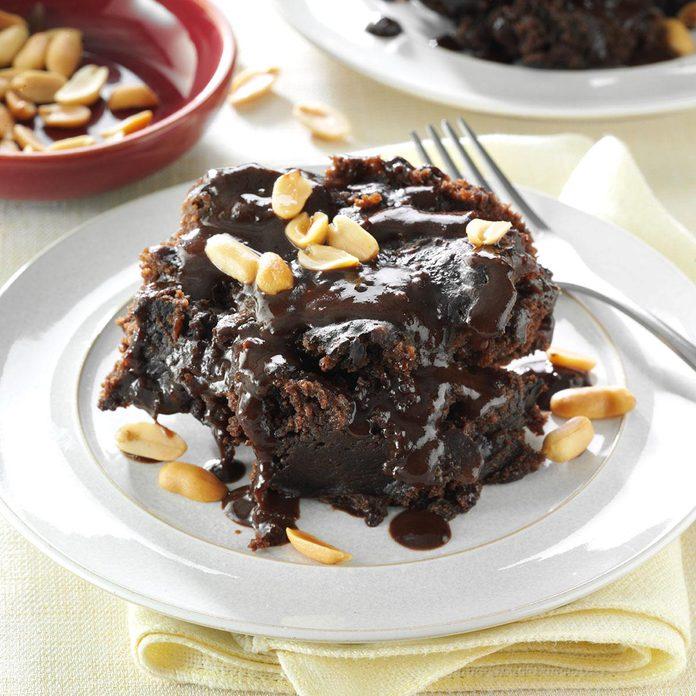 Gooey Peanut Butter-Chocolate Cake