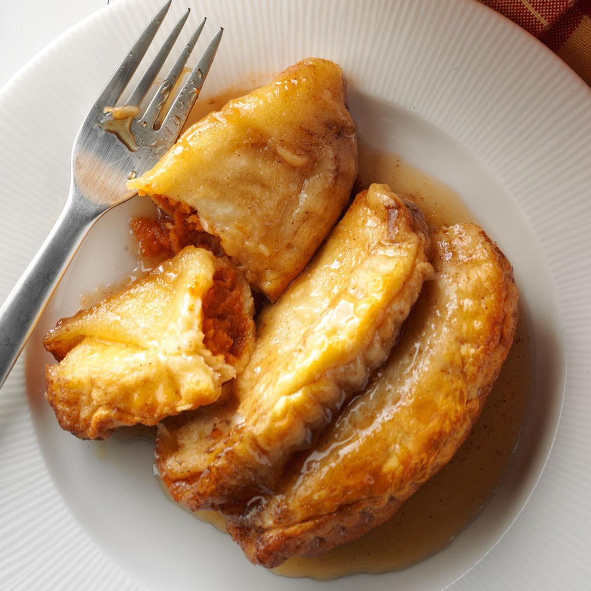 Sweet Potato Dumplings with Caramel Sauce