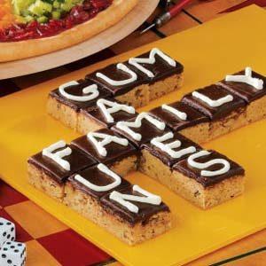 Scrabble Brownies