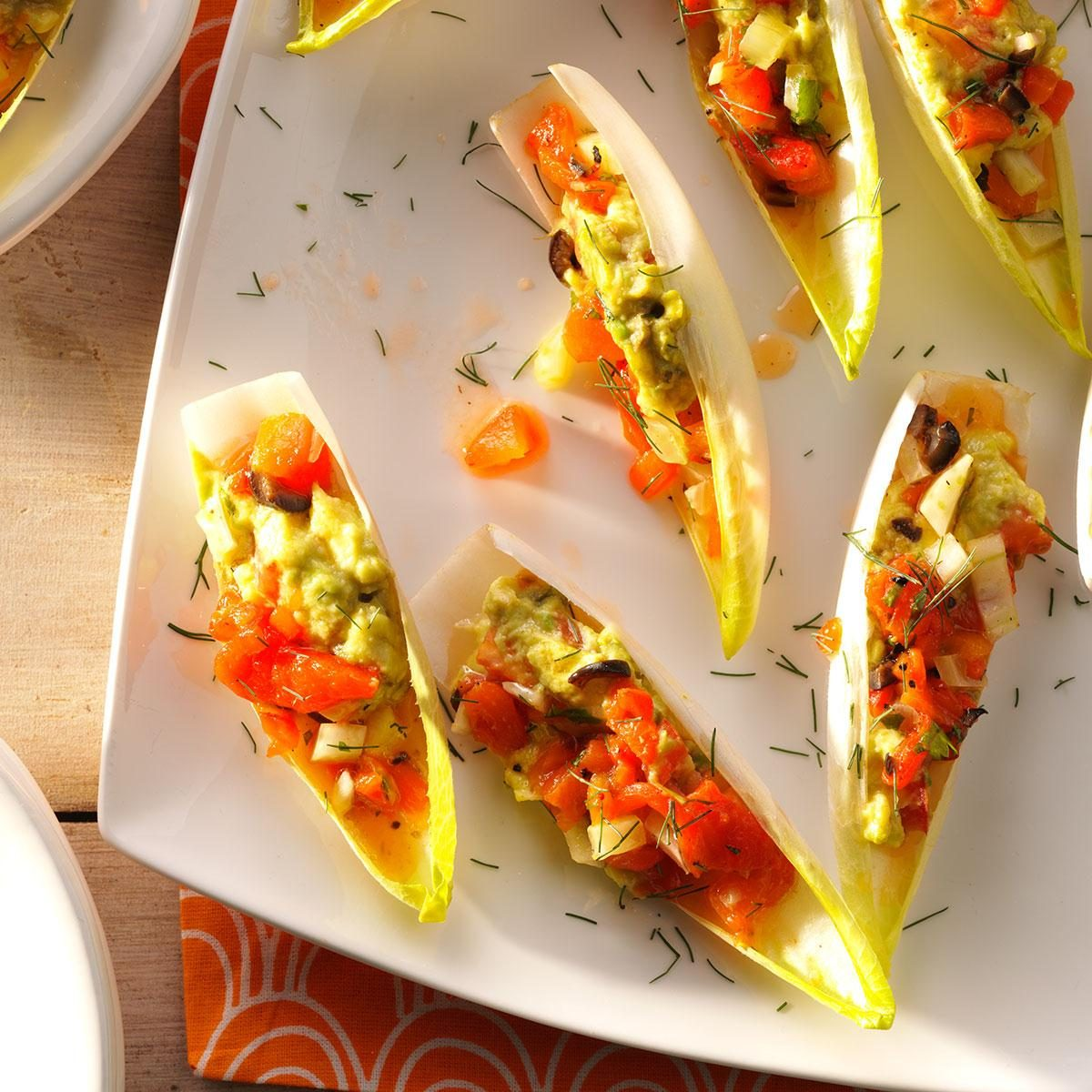 Avocado Endive Cups with Salsa