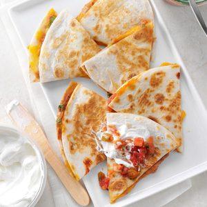 Bean & Cheese Quesadillas