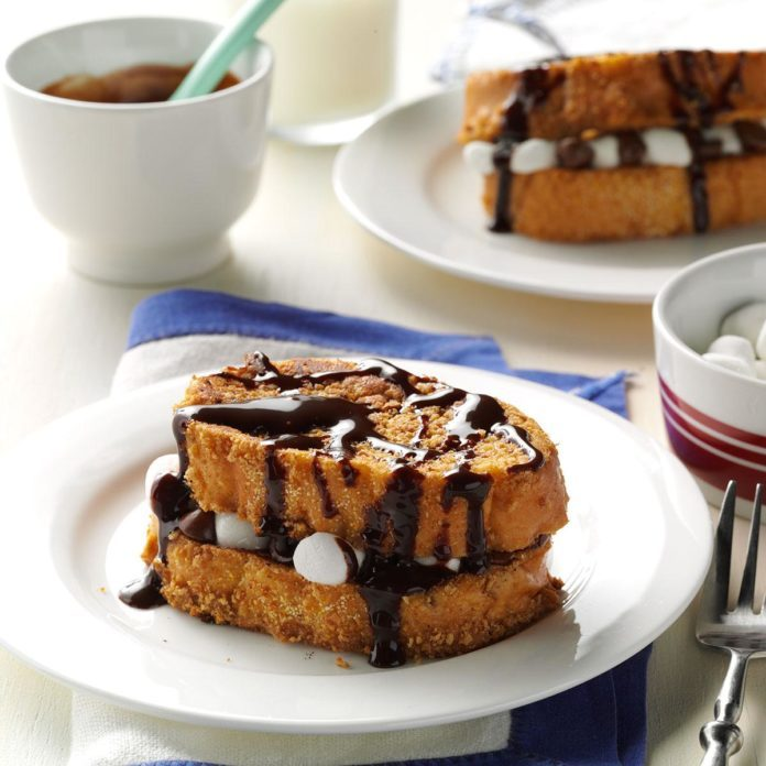S'mores Stuffed French Toast