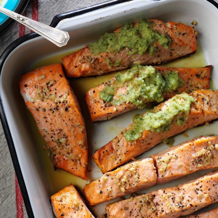 North Dakota: Ginger Salmon with Cucumber Lime Sauce