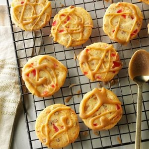Glazed Candied Fruit Cookies
