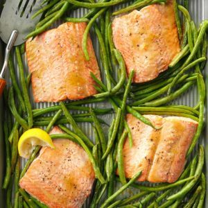 Sweet & Tangy Salmon with Green Beans
