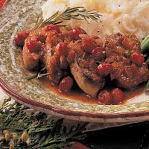 Cranberry Pork Medallions