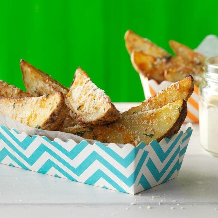 Parmesan-Romano Potato Wedges