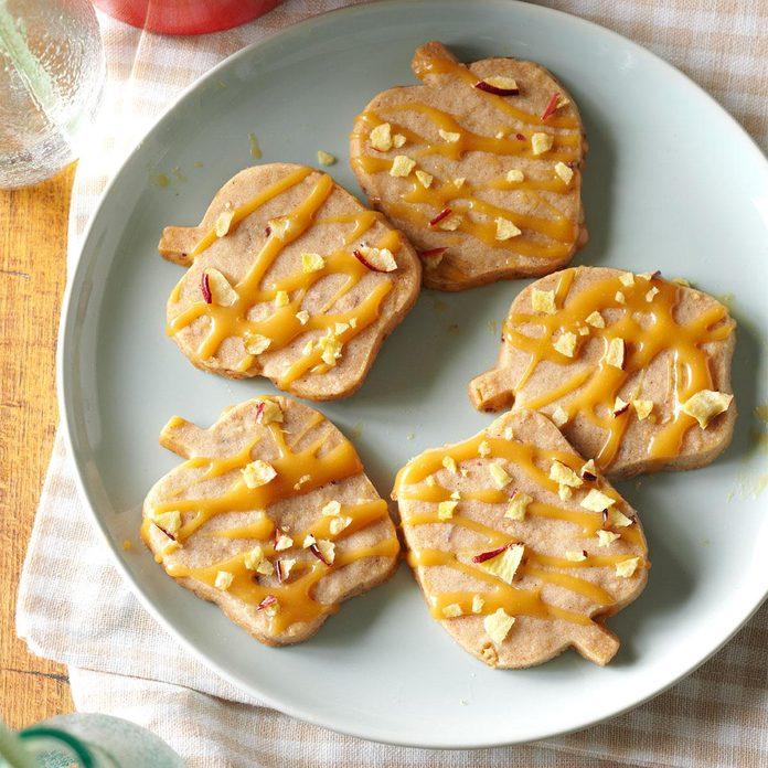 Caramel-Apple Shortbread Cookies