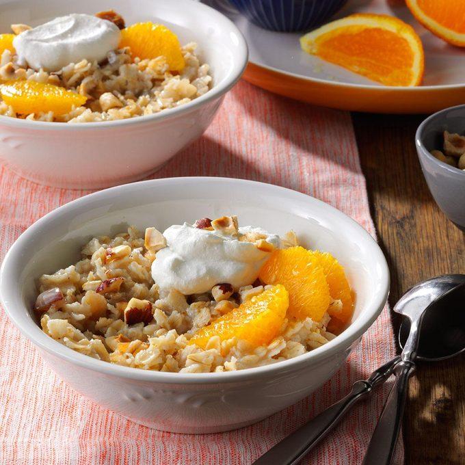 Spiced Orange-Hazelnut Oatmeal