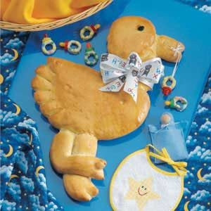 Stork with Pacifier Treats