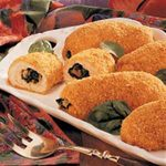 Breaded Spinach-Stuffed Chicken