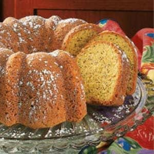 Coconut Poppy Seed Bundt Cake