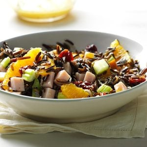 Orange-Wild Rice Salad with Smoked Turkey