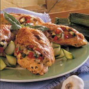 Zucchini-Stuffed Chicken