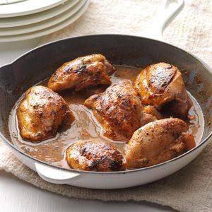 Apple-Glazed Chicken Thighs
