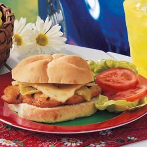 Green Chili Chicken Sandwiches