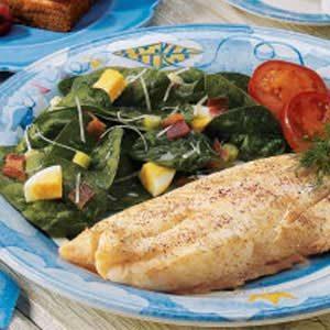 Simple Italian Spinach Salad