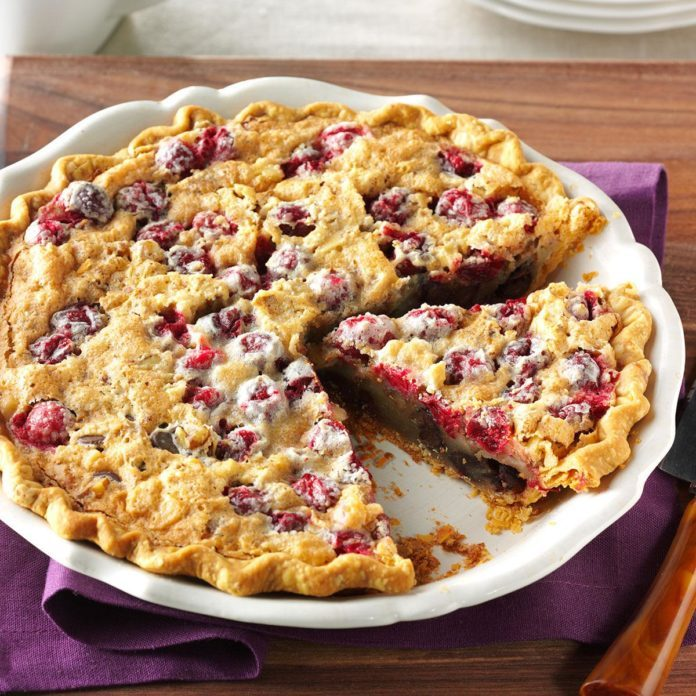 Cranberry Chocolate Walnut Pie