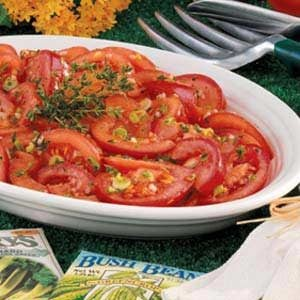 Marinated Garden Tomatoes