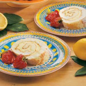 Lemon Angel Cake Roll