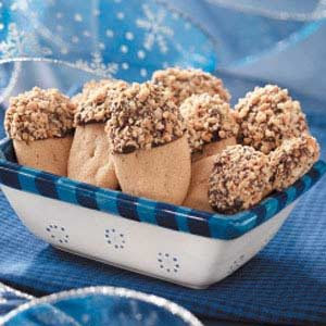 Chocolate-Dipped Peanut Logs