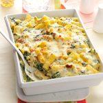 Creamy Spinach & Rigatoni Bake