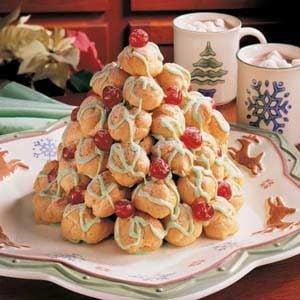 Cream Puff Christmas Tree