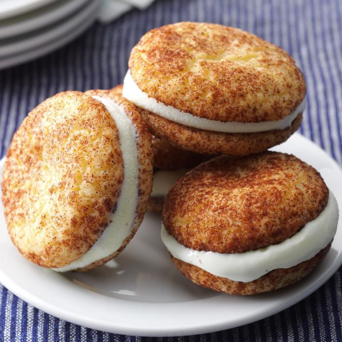 Snickerdoodle Ice Cream Sandwich Minis