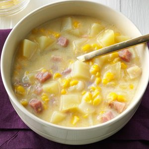Smoky Cheddar, Ham and Corn Chowder