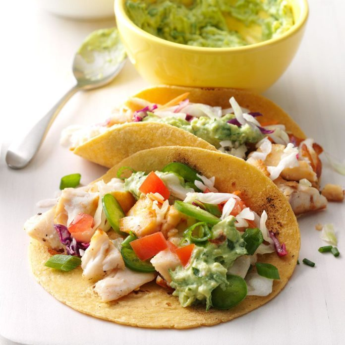 Day 10: Fish Tacos with Guacamole