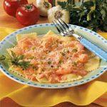 Ravioli with Shrimp Tomato Sauce