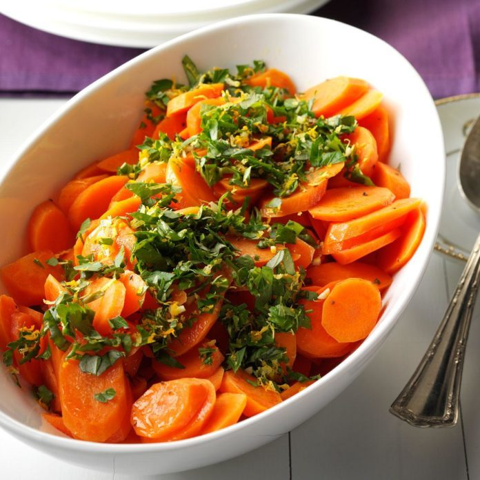 Honeyed Carrots with Citrus-Basil Gremolata