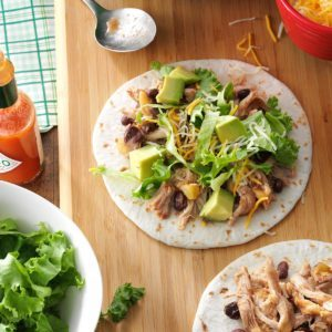 Slow Cooker Chicken & Black Bean Tacos