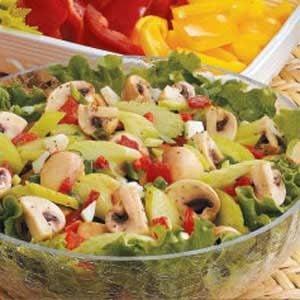 Mushroom Pimiento Salad