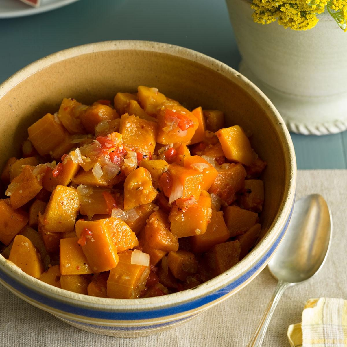 Vermont: Butternut Squash with Maple Syrup