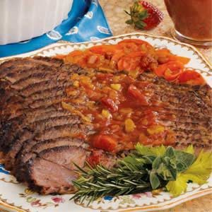 Brisket with Chunky Tomato Sauce