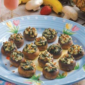 Spinach Cheese Mushrooms