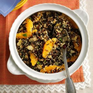 Wild Rice, Quinoa & Cranberry Salad